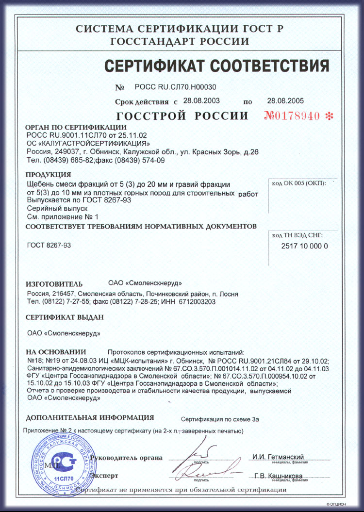 Certification In Russia Registration Of Accordance Fire